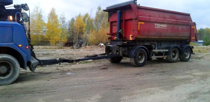 Эвакуация грузового прицепа